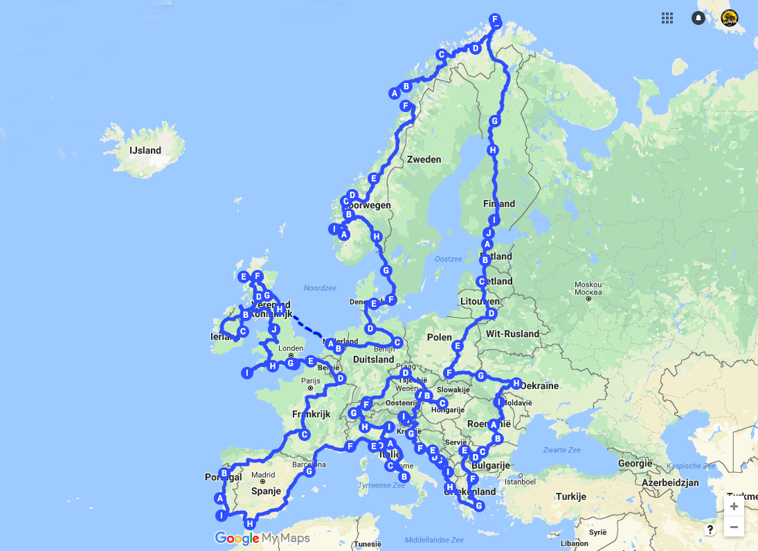 Europe Road Trip planner, maps and guides