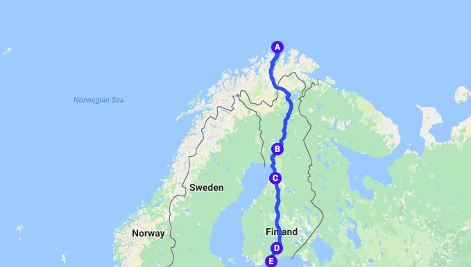 Finland road trip