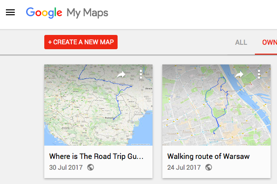 How To Use Google My Maps To Plan Your Next Road Trip - Vilnius maps google