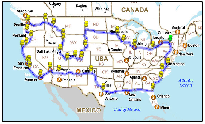 Road Trip Usa The Route