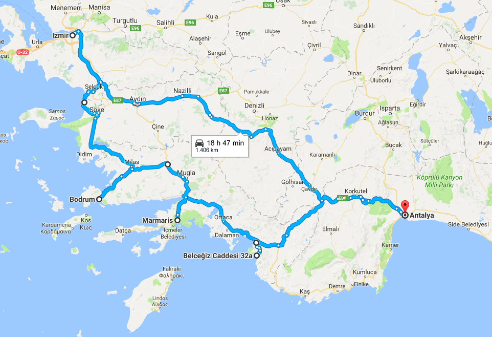 road trip in turkey