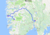 Driving from Oslo to Bergen