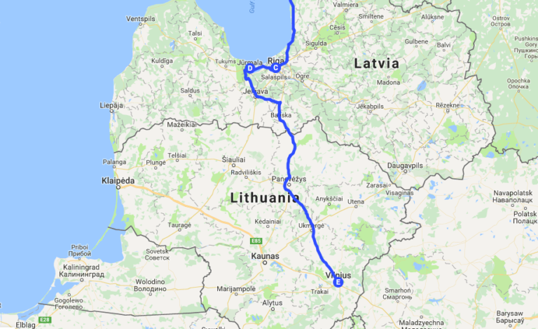 My road trip from Riga (Latvia) to Vilnius (Lithuania)