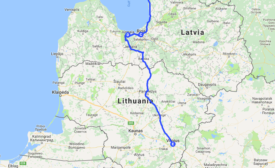 25000 km Europe road trip part 9 Riga Latvia and Vilnius