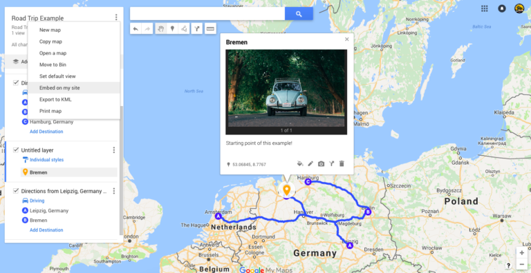 How to use Google My Maps to plan your next road trip