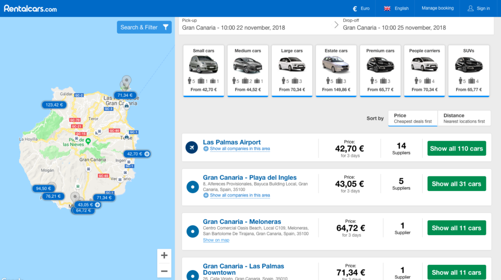 rent car las palmas
