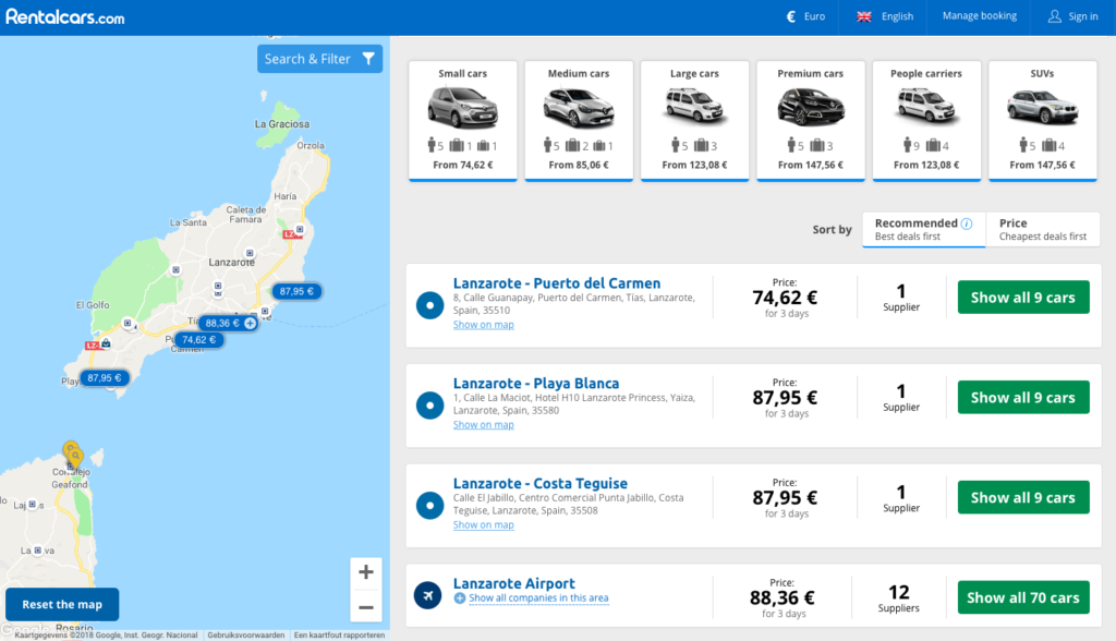 rent a car in lanzarote